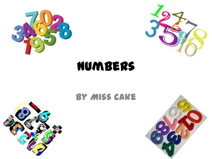 NumbersBy Miss Cake