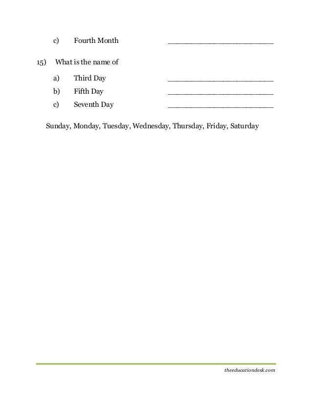 Maths: Number System Worksheet (CBSE Grade II)