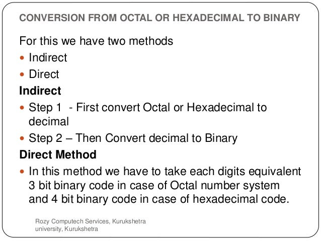 what is binary hexadecimal and octal