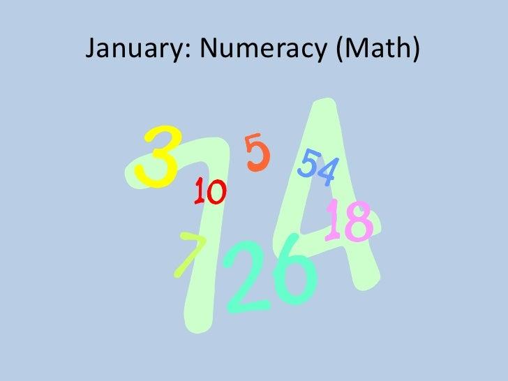 January: Numeracy (Math)<br />