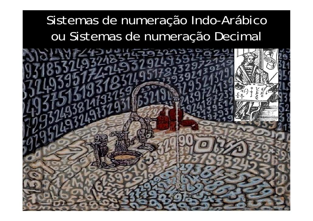 Sistemas de numeração Indo-Arábico ou Sistemas de numeração Decimal