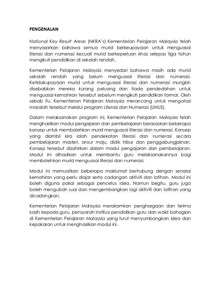PENGENALANNational Key Result Areas (NKRA's) Kementerian Pelajaran Malaysia telahmenyasarkan bahawa semua murid berkeupaya...