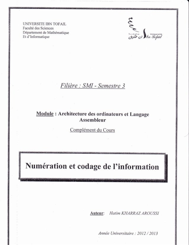 UNIVERSITE IBN TOFAIL Facult6 des Sciences Ddpartement de Mathdmatique Et d'Informatique *-f I F #.,lt,;'ii,;-ixi Filidre ...