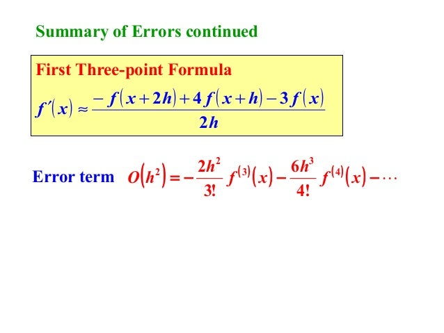 numerical differentiation and integration pdf