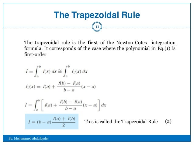 the trapezoidal rule t...