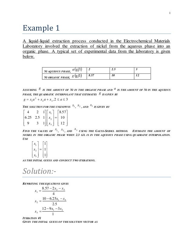 Numerical methods and analysis problems/Examples