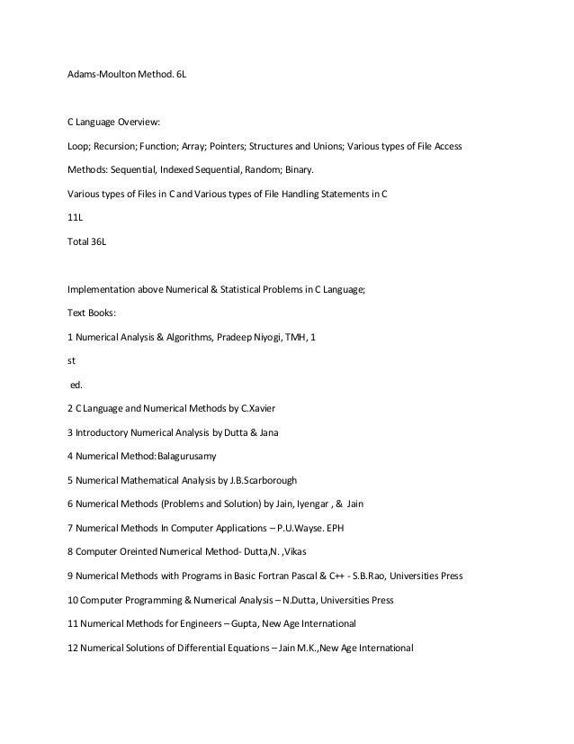 E numerical balagurusamy pdf methods