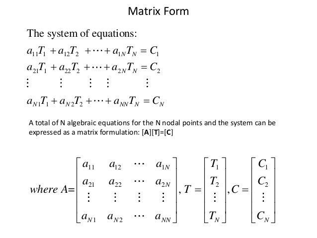 Numerical methods for 2 d heat transfer