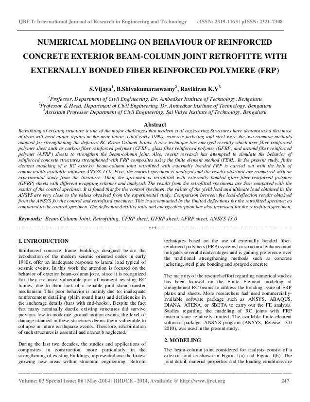 Numerical modeling on behaviour of reinforced concrete