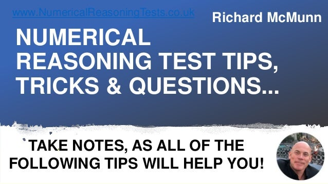 Numerical Reasoning Test Tips, Tricks, Questions & Answers