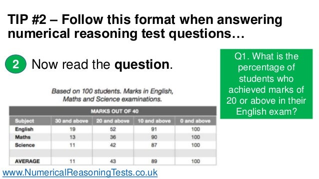 Numerical Reasoning Test Tips