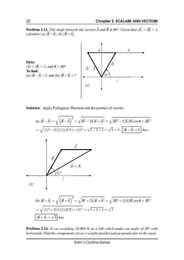 Scalars And Vectors Physics Pdf