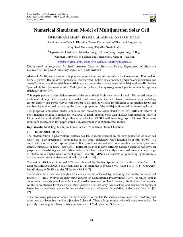 Journal of Energy Technologies and Policy                                                          www.iiste.orgISSN 2224-...