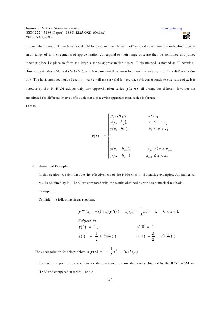 Value problems by using semi analytic method