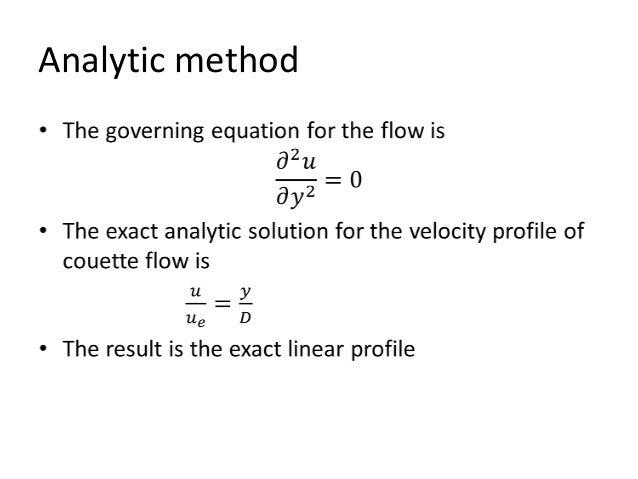 Numerical solution, couette flow using crank nicolson