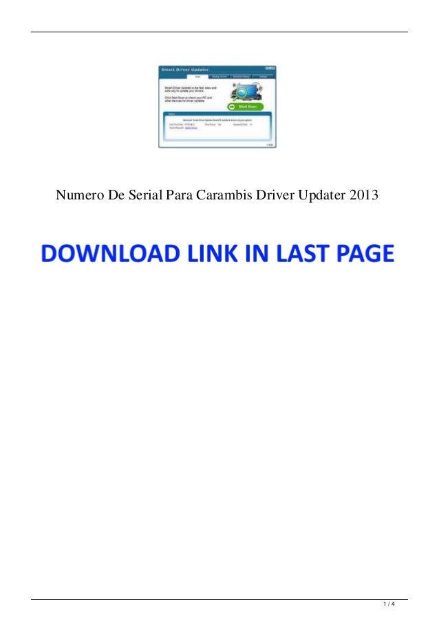 Numero De Serial Para Carambis Driver Updater 2013 1 / 4
