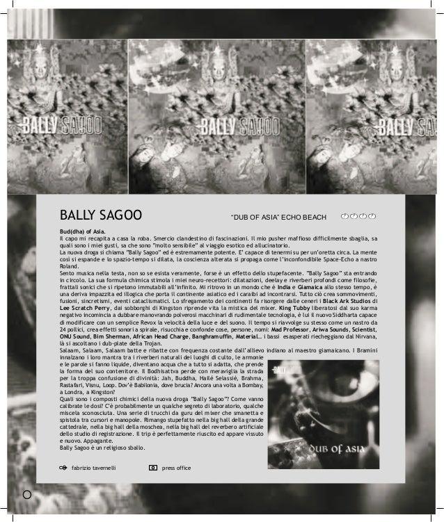 """BALLY SAGOO                                                        """"DUB OF ASIA"""" ECHO BEACHBud(dha) of Asia.Il capo mi rec..."""