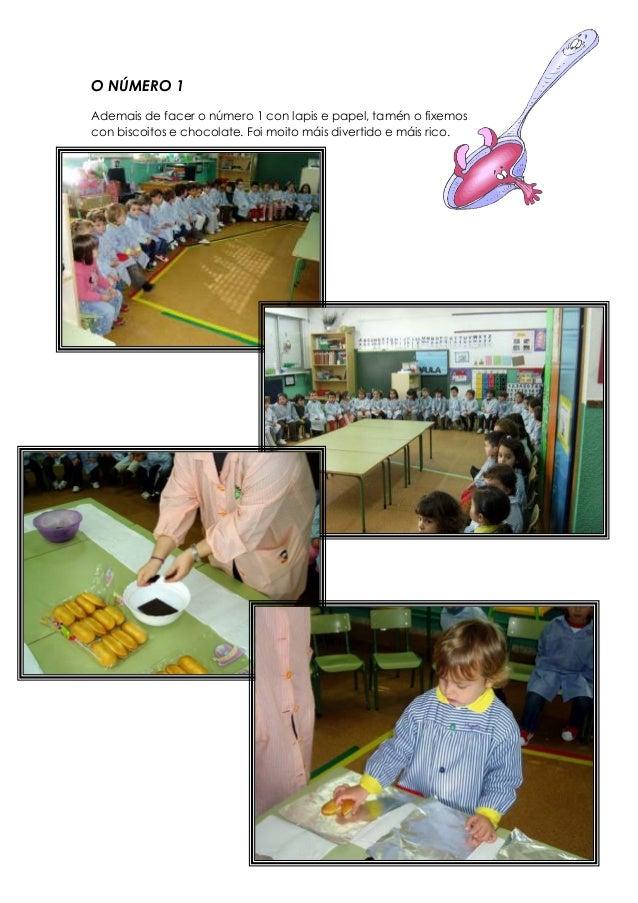 O NÚMERO 1 Ademais de facer o número 1 con lapis e papel, tamén o fixemos con biscoitos e chocolate. Foi moito máis divert...