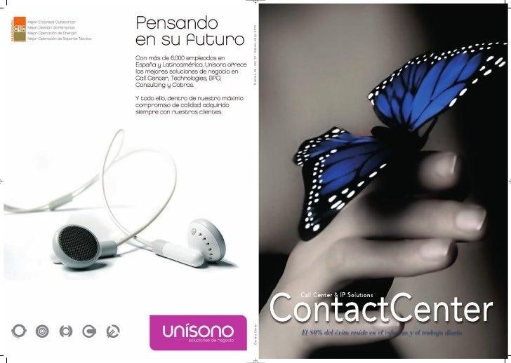 Número 49 - Año 10 - febrero-marzo 2010  Contact Center                                               El 80% del éxito res...