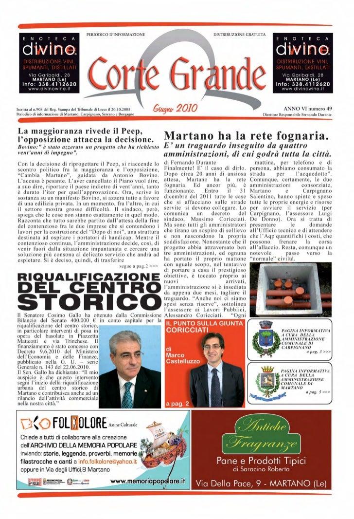 Corte Grande N° 49 - Giugno 2010
