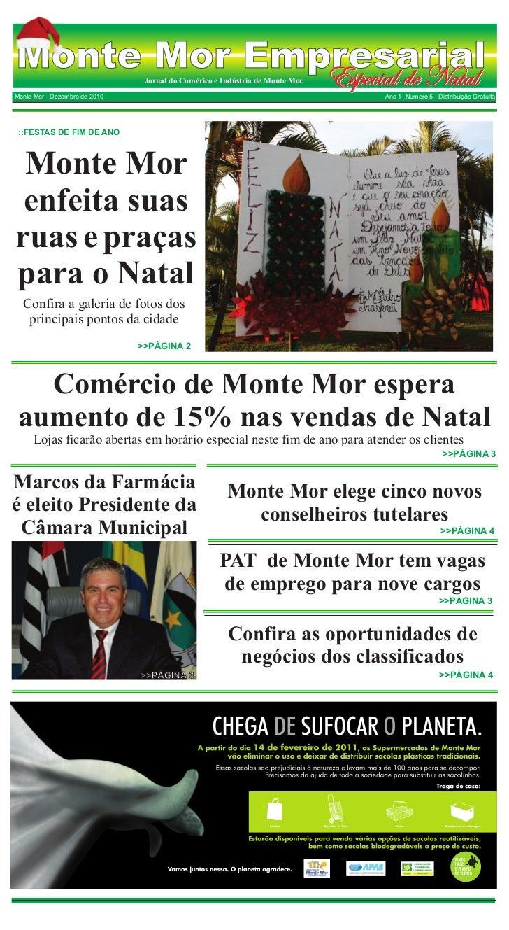 Monte Mor Empresarial             Especial de Natal  Jornal do Comérico e Indústria de Monte MorMonte Mor - Dezembro de 20...