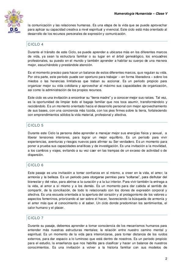 Numerologia Humanista clase 5