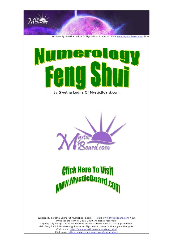 How to understand the importance of numerology numbers in fengshui written by swetha lodha of mysticboard visit fandeluxe Choice Image