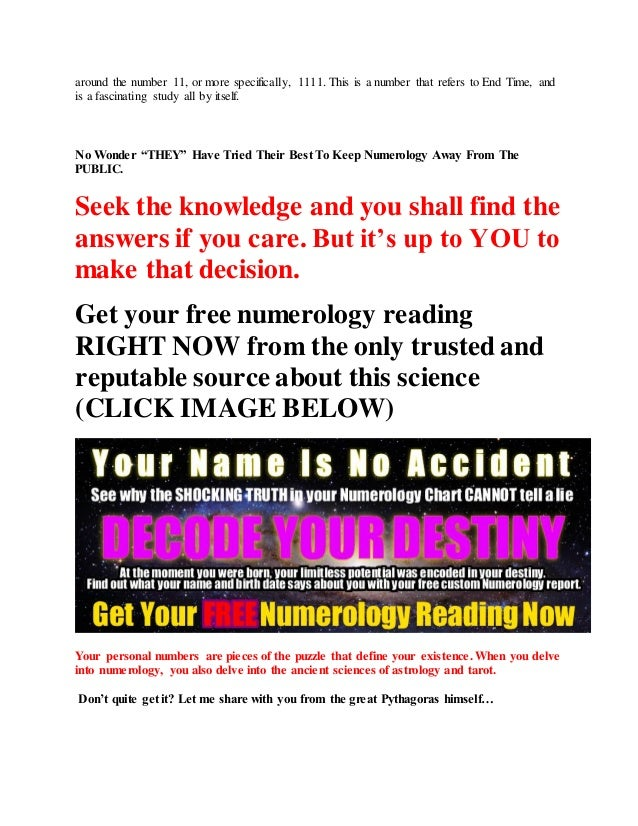 Get Your Personalized Numerology Chart