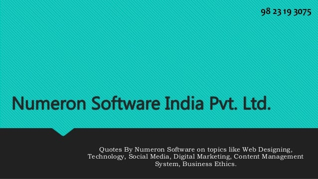 Numeron Software India Pvt. Ltd. Quotes On Web Design