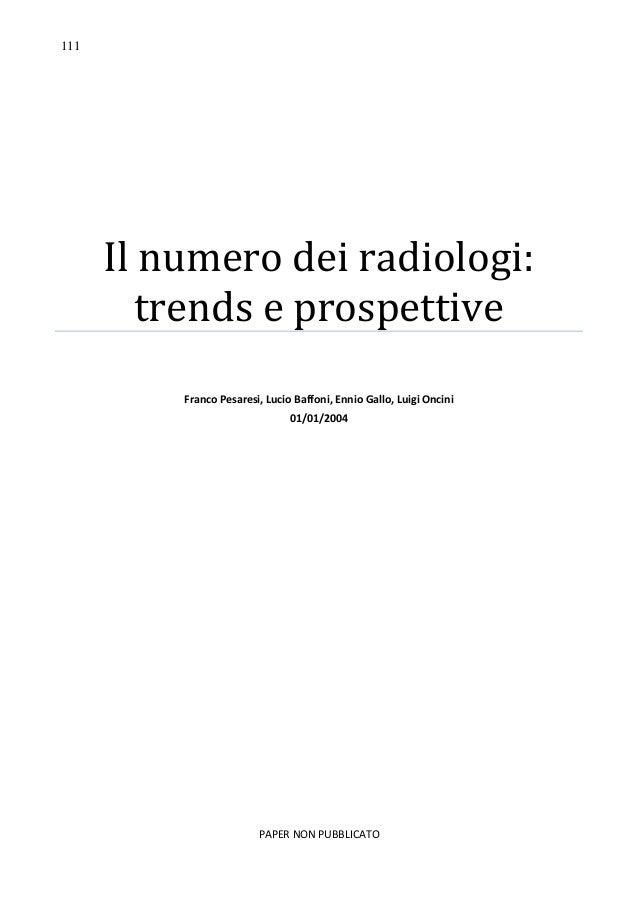 Il numero dei radiologi trends e prospettive for Numero dei parlamentari in italia