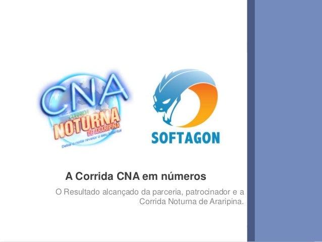 1www.softagon.com.br A Corrida CNA em números O Resultado alcançado da parceria, patrocinador e a Corrida Noturna de Arari...