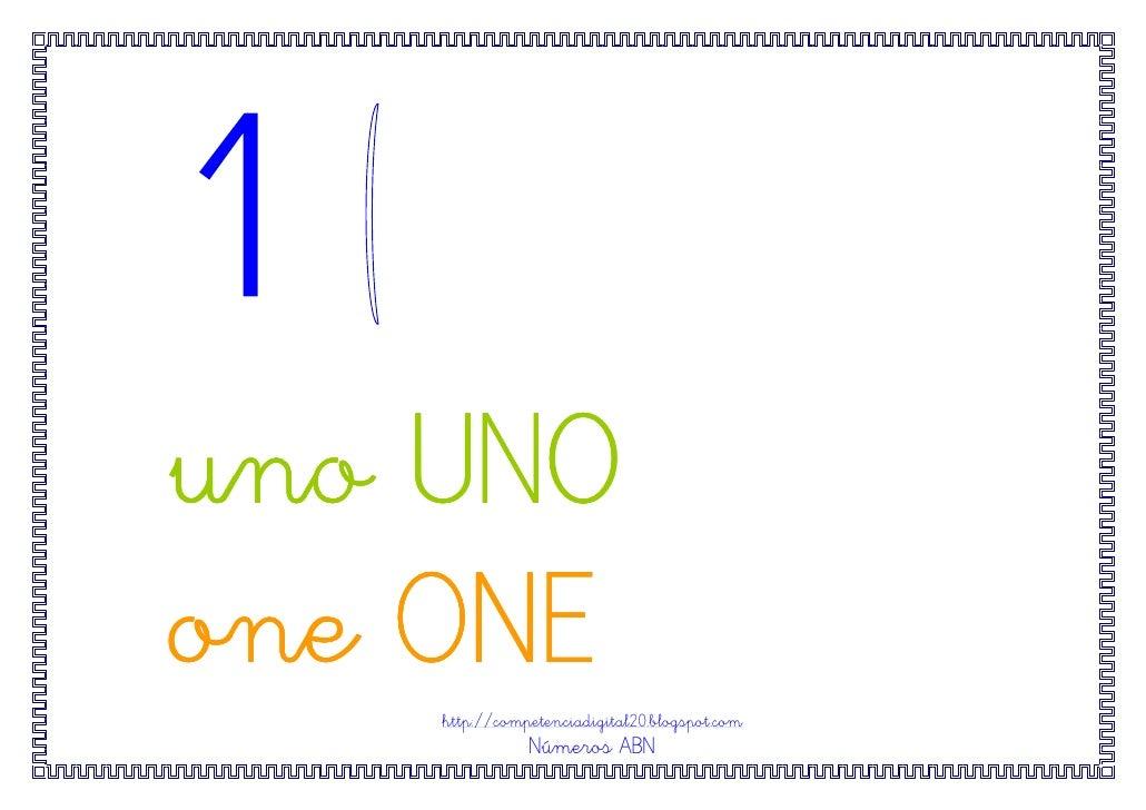 uno UNOone ONE    http://competenciadigital20.blogspot.com               Números ABN