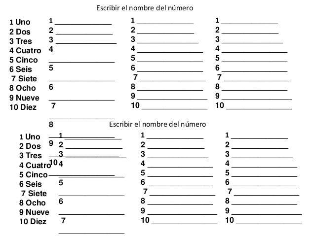Numeros Del 1 Al 100 Nombres