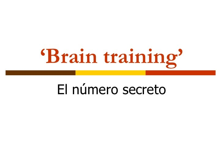 ' Brain training' El número secreto