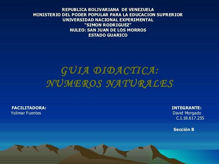 REPUBLICA BOLIVARIANA  DE VENEZUELA MINISTERIO DEL PODER POPULAR PARA LA EDUCACION SUPRERIOR UNIVERSIDAD NACIONAL EXPERIME...