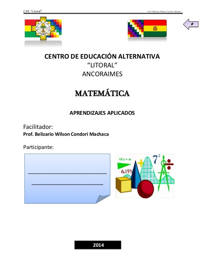 """CAE """"Litoral"""" Prof. Belizario Wilson Condori Machaca 0 ____________________________________________ ______________________..."""