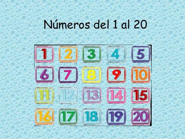 Los Números Del 1 Al 20