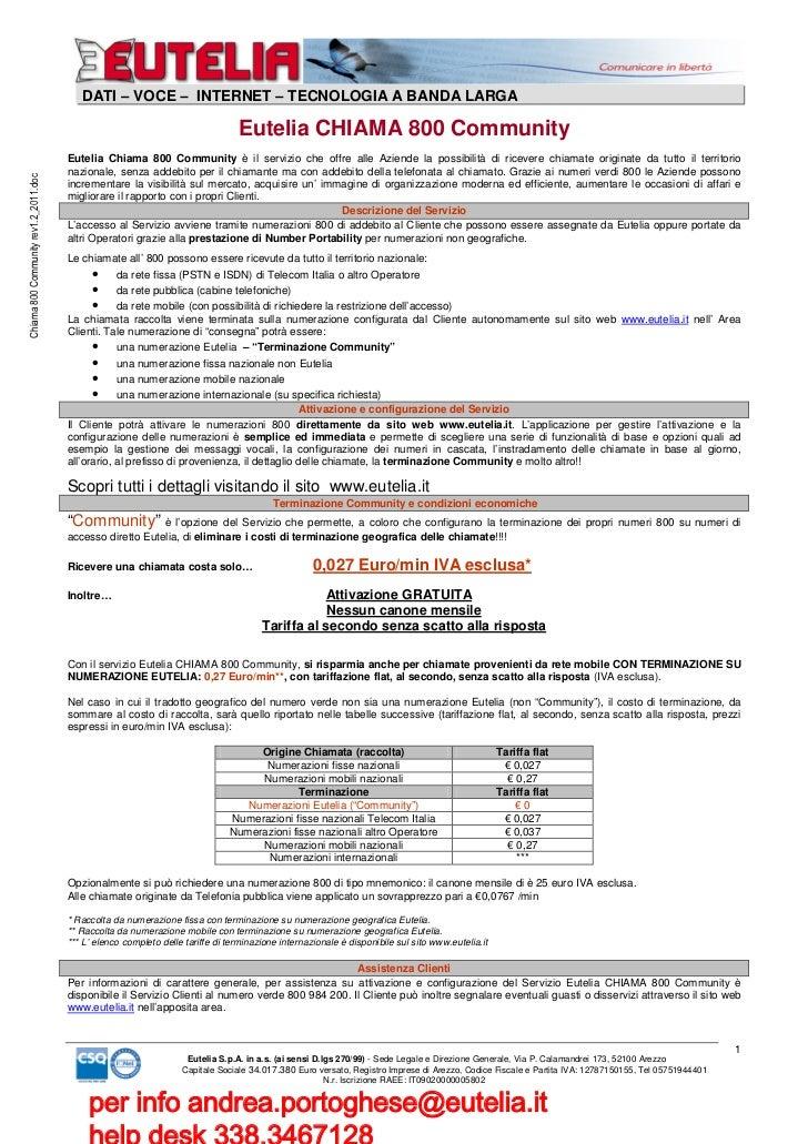 DATI – VOCE – INTERNET – TECNOLOGIA A BANDA LARGA                                                                         ...