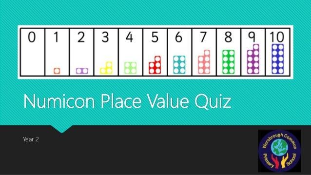 Numicon Place Value Quiz Year 2