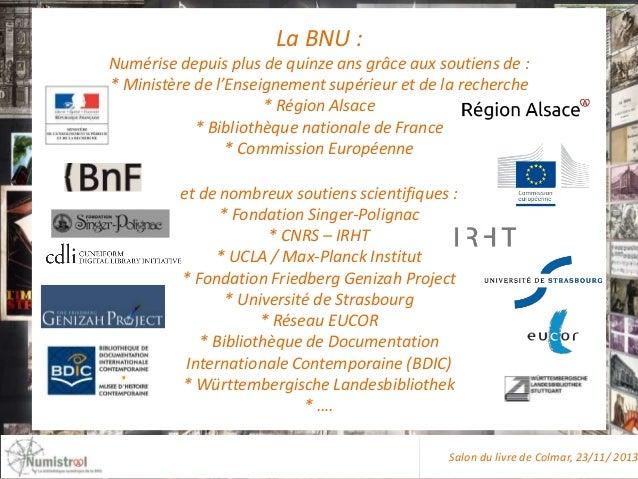 La BNU : Numérise depuis plus de quinze ans grâce aux soutiens de : * Ministère de l'Enseignement supérieur et de la reche...