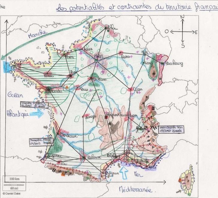 Croquis 2 Potentialités et contraintes du territoire français
