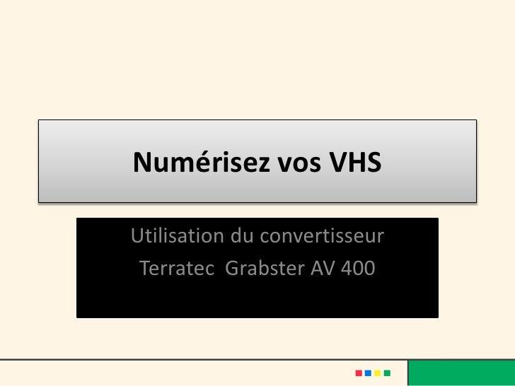 Numérisez vos VHSUtilisation du convertisseur Terratec Grabster AV 400