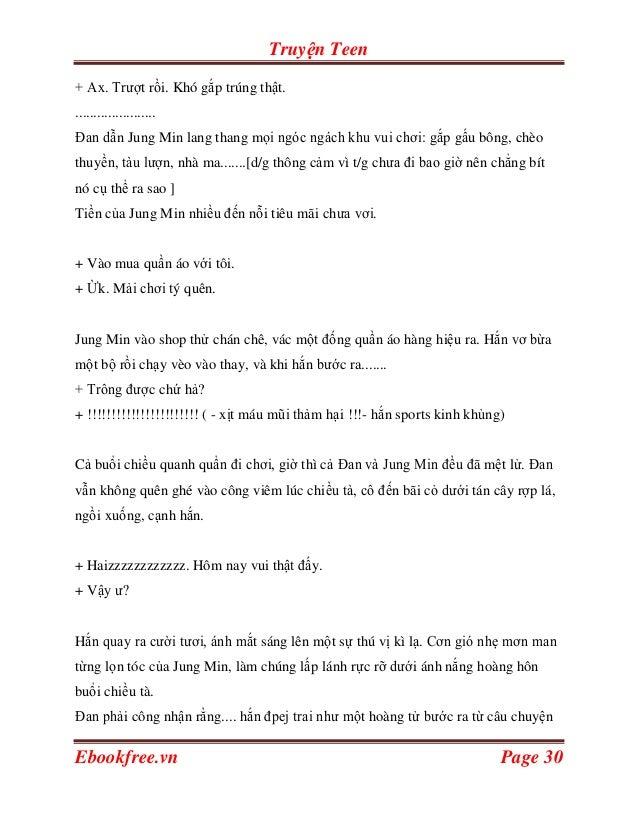 Truyện Teen+ Ax. Trượt rồi. Khó gắp trúng thật.......................Đan dẫn Jung Min lang thang mọi ngóc ngách khu vui ch...