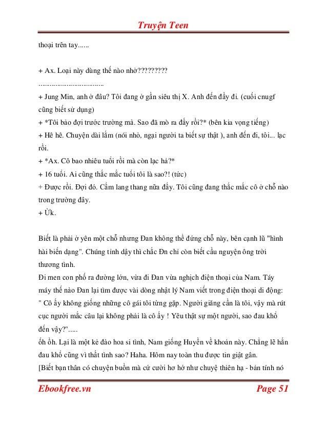 Truyện Teenthoại trên tay......+ Ax. Loại này dùng thế nào nhở?????????...................................+ Jung Min, anh ...