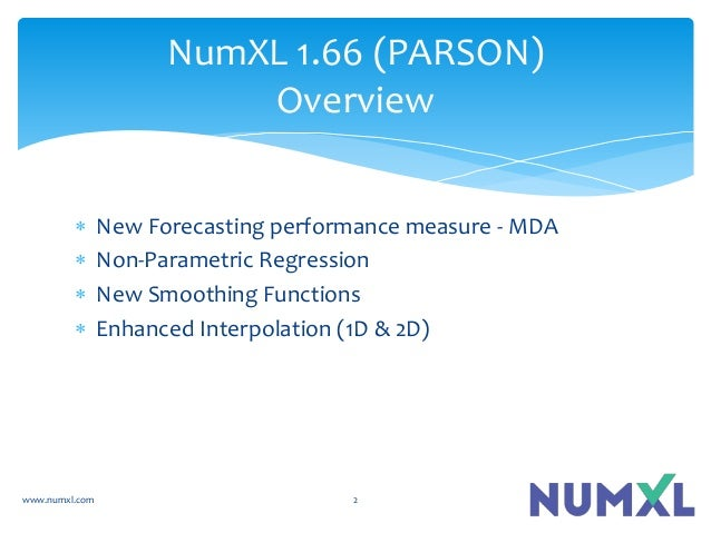  New Forecasting performance measure - MDA  Non-Parametric Regression  New Smoothing Functions  Enhanced Interpolation...
