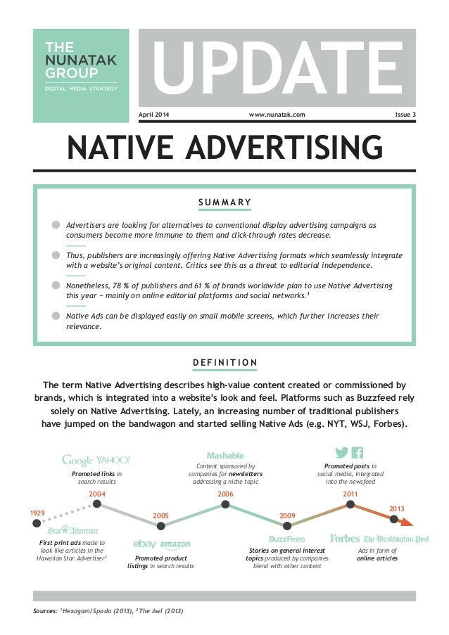 S u m m a r y Advertisers are looking for alternatives to conventional display advertising campaigns as consumers become m...