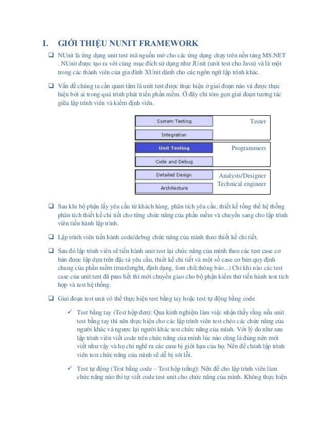 Nunit framework for .NET application Slide 2