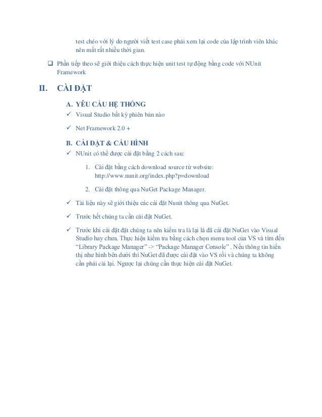 Nunit framework for .NET application Slide 3