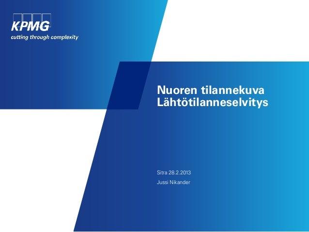 Nuoren tilannekuvaLähtötilanneselvitysSitra 28.2.2013Jussi Nikander