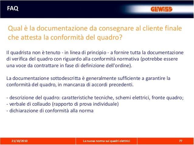Schemi Elettrici Normativa : Nuova norma quadri presentazione